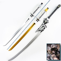 NieR Automata YoRHa Type A No. 2 and No. 9 Type S Wooden Sword Stage Performance Props for Costume Party and Chrismas New Year