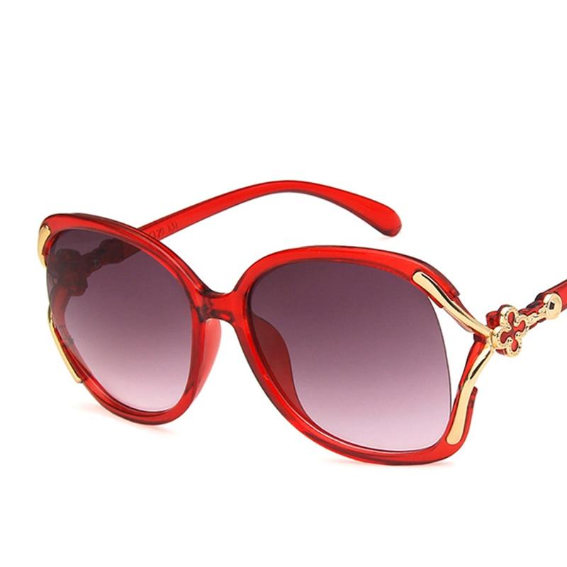 Four Leaf Clover Sunglasses 2019 New Retro Hollow Men And Women Fashion Pop Big Glasses Glasses Street Shoot Wild Sunglasses in Women 39 s Sunglasses from Apparel Accessories