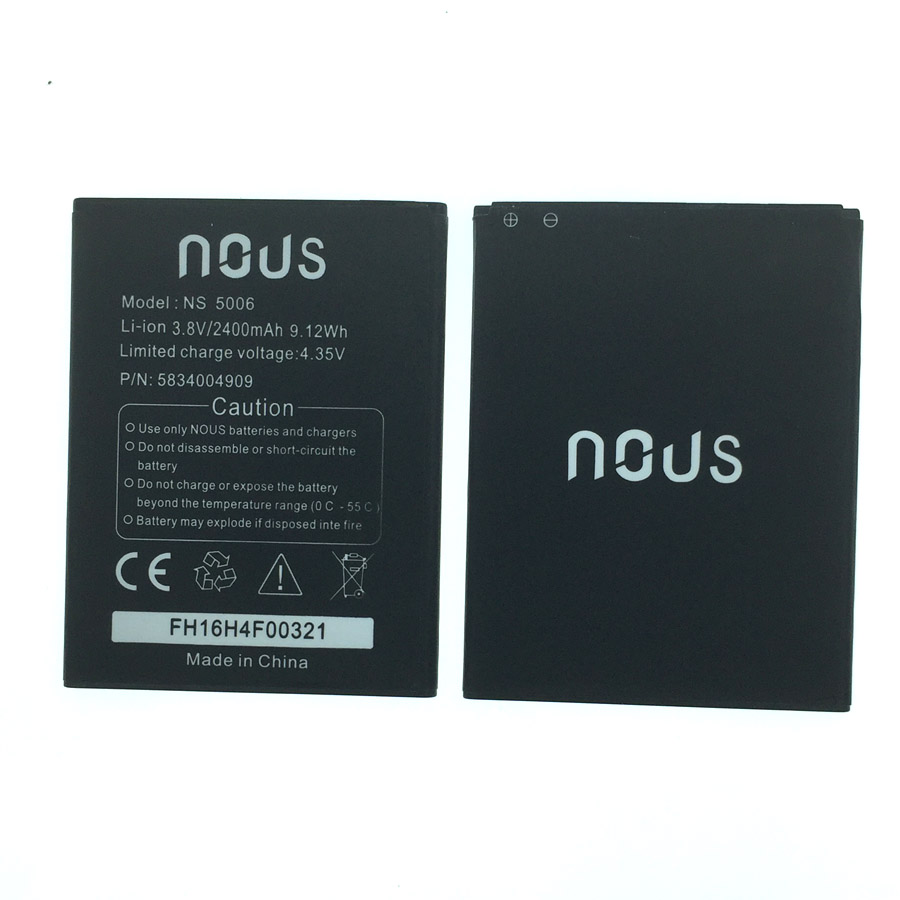 2400mAh New Battery for Nous NS 5006 NS5006 Cellphone Bateria + Tracking Number