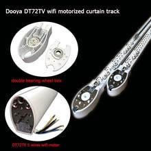 أفضل نوعية Dooya محرك الستائر DT72TV ستارة كهربائية المسار قضيب للستائر التحكم عن طريق واي فاي التحكم عن بعد المنزل الذكي