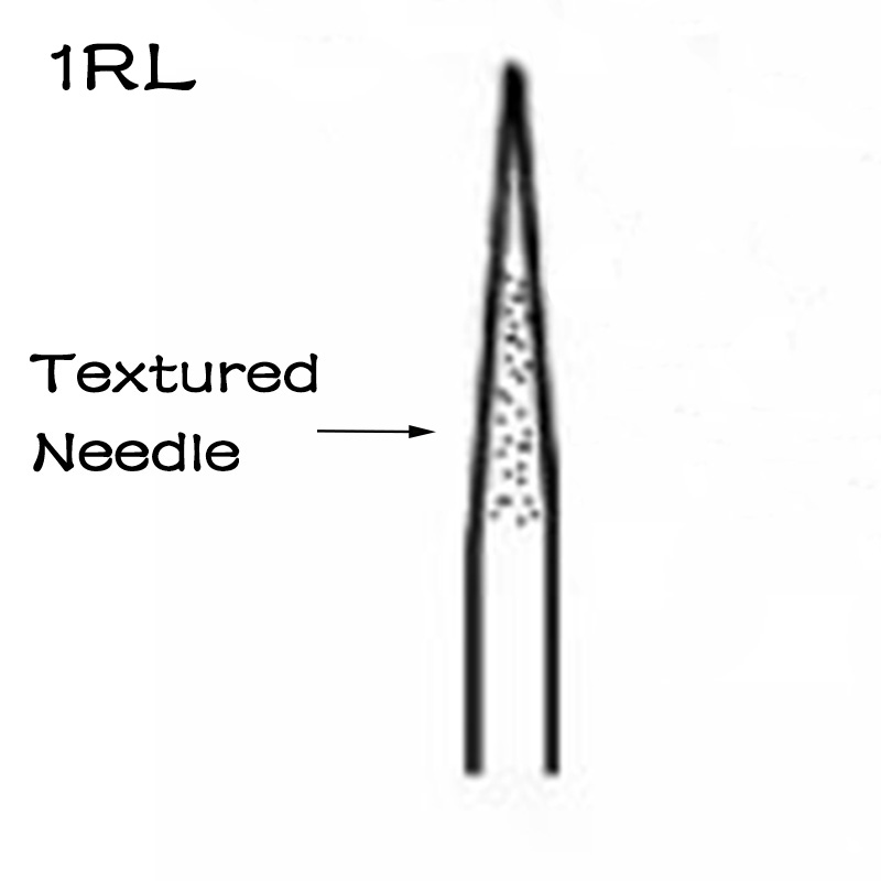 1RL Textured Needle Tattoo Machine Needle for Eyeliner Brow Lip Tattoo Accessories