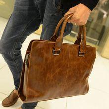 ABDB-Для мужчин кожаные плеча Курьерские сумки Бизнес деловые сумки для ноутбука Портфели сумки Цвет, коричневый
