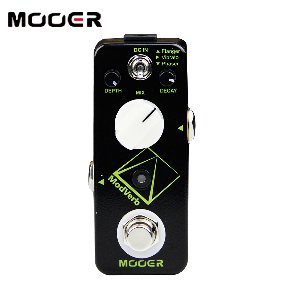 Mooer micro series pedal modverb modulation reverb pedal guitar effect pedal new effect pedal mooer solo distortion pedal full metal shell true bypass
