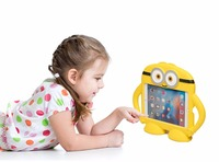 Minions Tough Kids Childrens 3D Kids Cute Shockproof EVA Foam Stand Cover Tab Case For Ipad