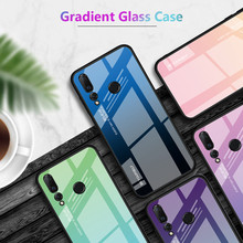 Tempered Glass Phone Bags Case For Huawei Y7 Prime 2018 Y7 Pro 2019 Protective Case Bumper Hard Glass Silicone Frame Back Cover(China)
