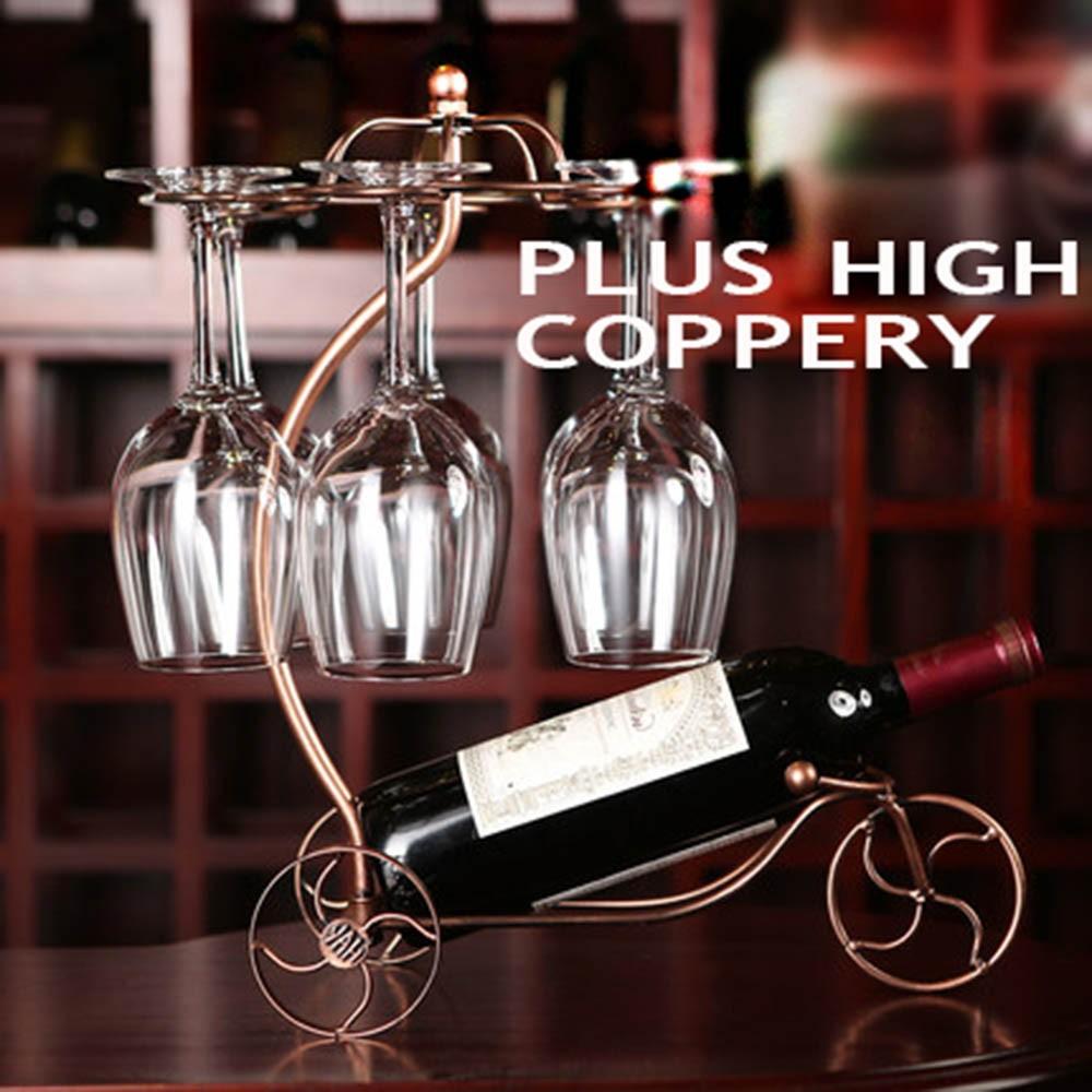 Decorative Racks Wine Bottle Holder Hanging Upside Down Cup Goblets Display Rack Iron Wine Stand Arts Design KC1283 (11)