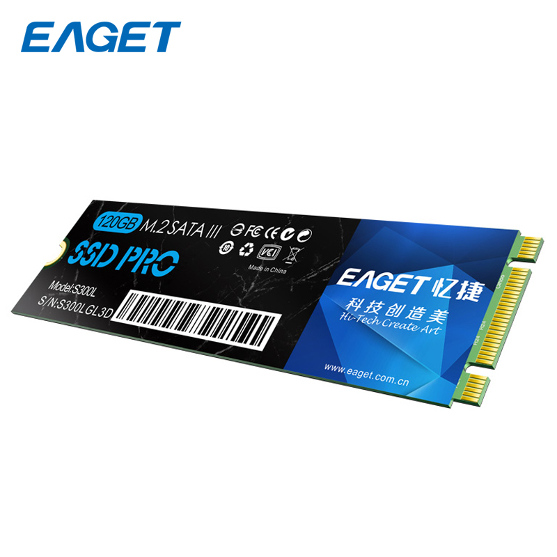 цена на Eaget 22*80mm SSD 120GB M.2 NGFF SATA III SSD Internal Solid State Drive Disk SSD 3.0 HD HDD For Ultrabook Laptop Notebook S300L