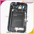 Для Samsung Galaxy Note2 N7100 ЖК-Экран Держатель Середина Рамка Рамка Корпуса со шлейфом и домашняя кнопка, бесплатная доставка