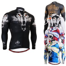 Life on track Technical Graphic Long Sleeves Cycling Jersey 4 Seasons Comfortable-fitting MTB Bike Bicycle Tops Shirts for Men