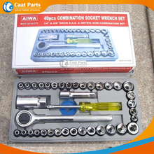 цена на 40pcs/Lot, Automobile Motorcycle Tool Box Set Socket Wrench Sleeve Suit Hardware Auto Car Repair Tools, high-quality!