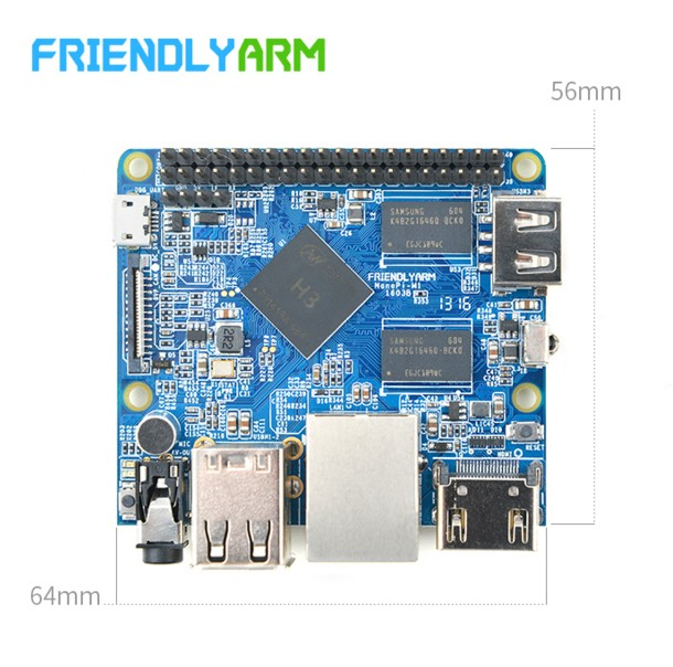 Friendly Open Source, NanoPi M1 Cortex-A7 H3 Development Board, with Infrared Network Port Audio friendly development board nanopi fire2a with 4 3 inch capacitive screen s430 s5p4418 electronic board open source