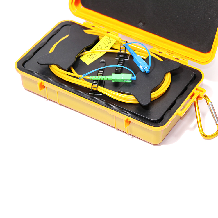 2 км один режим 1310/1550nm OTDR Lanunch кабельный ящик волоконно оптический кабельный тестер