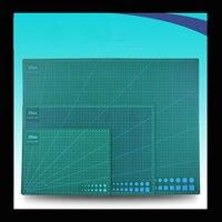 Pvc esteira do corte de papel A2/A3/A4 auto cura corte mat Patchwork Verde placa de corte de ferramentas de corte de artesanato esteiras para quilting