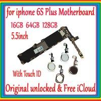 Оригинальная разблокированная материнская плата для iphone 6s plus без сенсорного ID/с сенсорным ID, для iphone 6s plus материнская плата 16 Гб/64 Гб/128 г