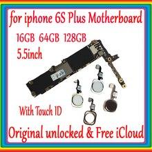 f291a1458fa Original desbloqueado para iphone 6s plus placa base sin Touch ID/con Touch  ID para iphone 6s plus placa base 16 gb/64 gb/128g