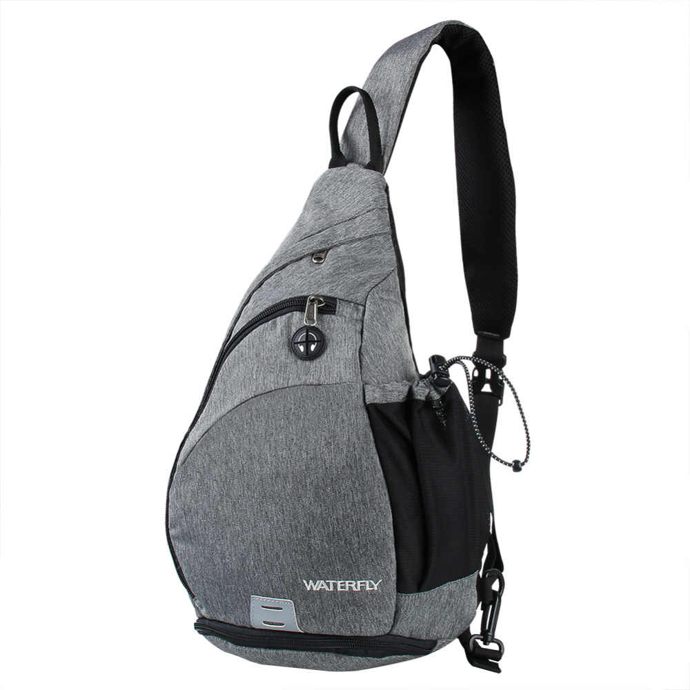 c9734326c45d WATERFLY Unisex Sling Bag Backapck Chest Bag For Outdoor Travel Cycling  Hiking Sport