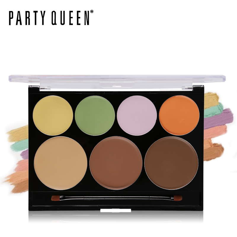 Party Queen Camouflage Cream Palette Color Corrector & Concealer Makeup Kit Contouring Bronzer Concealing Flawless Face Primer
