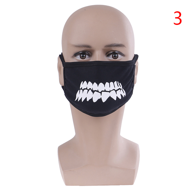 Unisex Black Anti-Dust Cute Bear Cotton Mouth Face Mask Respirator For Cycling Anime Cartoon Kpop Lucky Bear Women Men Muffle 3