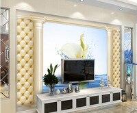 Calla עמודת רומא יהלומי flexpack טפט 3D, 3d חדר שינה מסעדת מלון קיר ספת טלוויזיה בסלון ציור קיר papel דה פארדה
