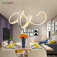 SOLFART люстры и подвески для столовой светодио дный Новое поступление современный шнур подвесной светильник освещение