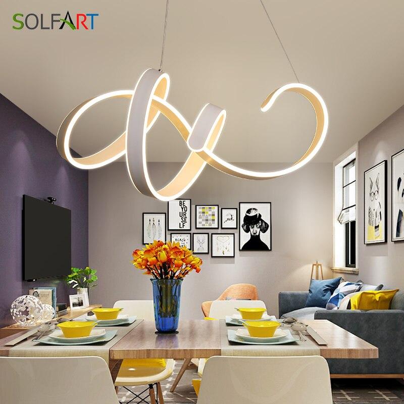 SOLFART Lustres e Pendentes para sala de jantar LED Nova Chegada Cabo Pendurado Moderna iluminação do pendente Da Lâmpada