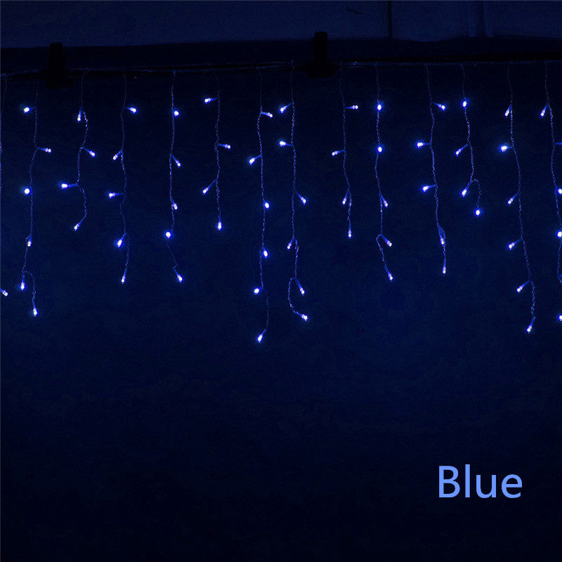 Christmas Lights Outdoor Decoration 5m Droop 0 4 0 6m Led Curtain Icicle String Lights Garden Xmas Party Decorative Lights in LED String from Lights Lighting