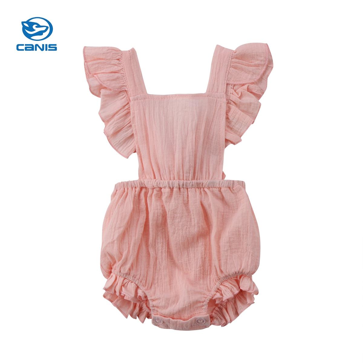 2018 new Newborn Baby Girls Infant   Romper   Jumpsuit Cotton Clothes Sunsuit Outfit