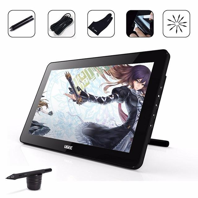 Ugee hk1560 15.6 pulgadas monitor de dibujo gráfico de dibujo digital monitor hd ips pantalla/panel