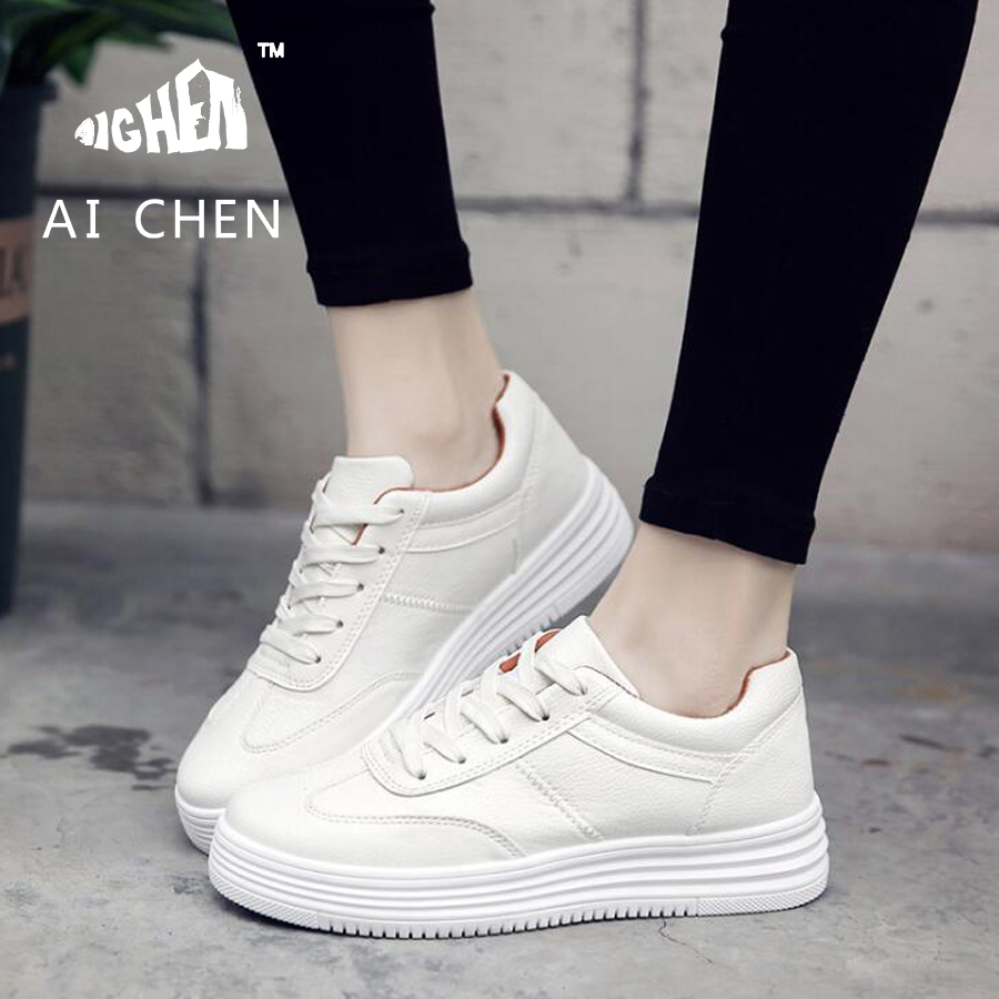 женщины спортивная обувь белый кожаный