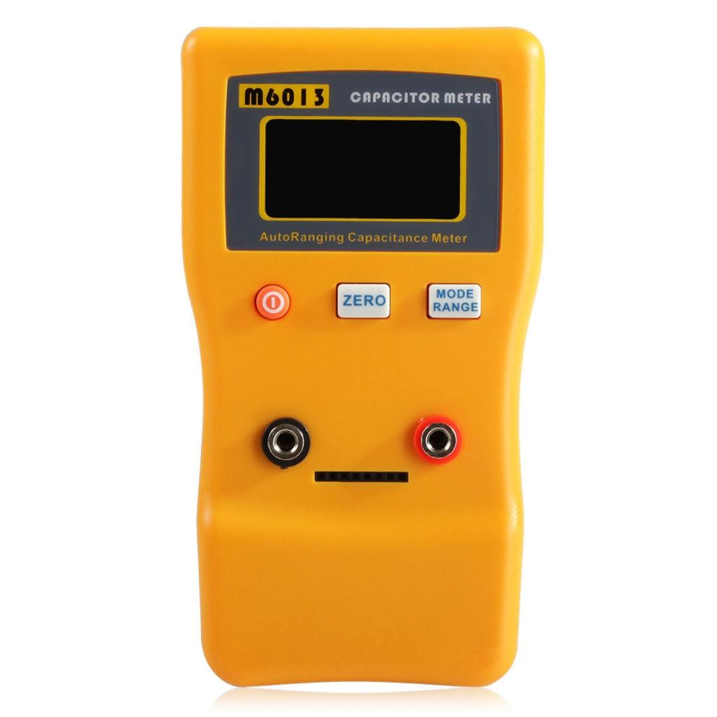 New M6013 Auto Range Digital Capacitor Capacitance Tester Meter 0.01pF to 470mF