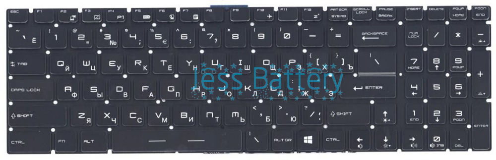New keyboard for MSI GL72 GP72 GE62 GE72 GL62 GP60 GS70 GP62 GT72 GE72 16J9 Russian/Spanish/French/UK/Arabic layout