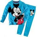 2017 Kids sets for boys Sleepwear Cotton Pyjamas Babys Clothing high-quality Baby Sets Underwear suits kids pajama sets 2-7y c24