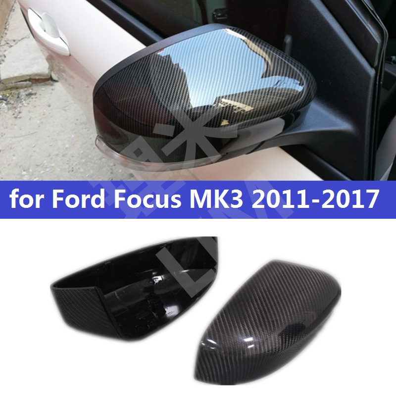 For Ford Focus MK3 2011-2017 EURO MODEL Carbon Fiber Side Door Mirror Wing Mirror Cover Replacement Car Styling Accessories багажник на крышу lux ford focus 2011 1 2м аэродинамические дуги узкие 699475