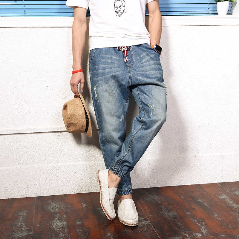 Japanese Hole Beggar Harlan Jeans Trousers Loose Bound