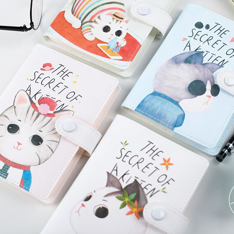 JOUDOO Kawaii Cat Printed Cartoon Notebook Plaid Diary Blank Pages Planners Journal Notepad Office Supplies Note Book Papeleria sosw fashion anime theme death note cosplay notebook new school large writing journal 20 5cm 14 5cm