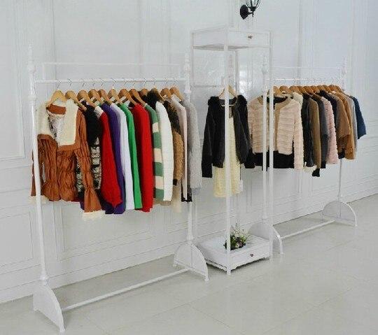 Iron clothing rack store display racks hanging clothes landing Men Women - jack chen furniture stor