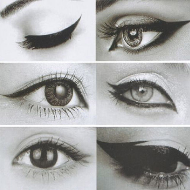 6Pcs Makeup Beauty Cat Eyeliner Smokey Eye Stencil Models Template Shaper Tool 5