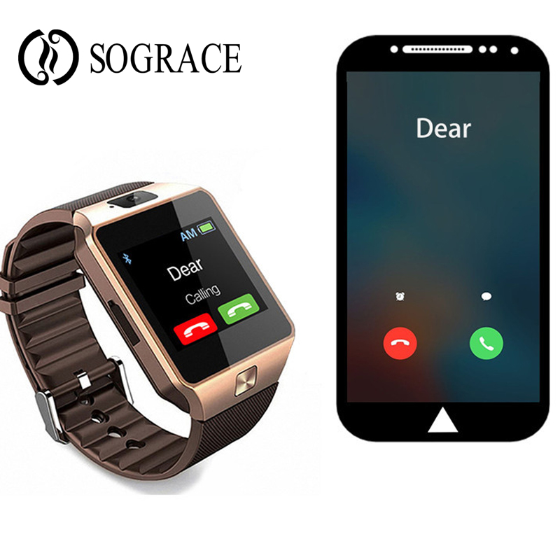 DZ09 Astuto Della Vigilanza Chiamata di Telefono Della Vigilanza Del Bluetooth di TF di Sostegno Sim della Macchina Fotografica di Sport Orologio Da Polso Per IOS Android PK A1 GT08 Q18 u8 Smartwatch
