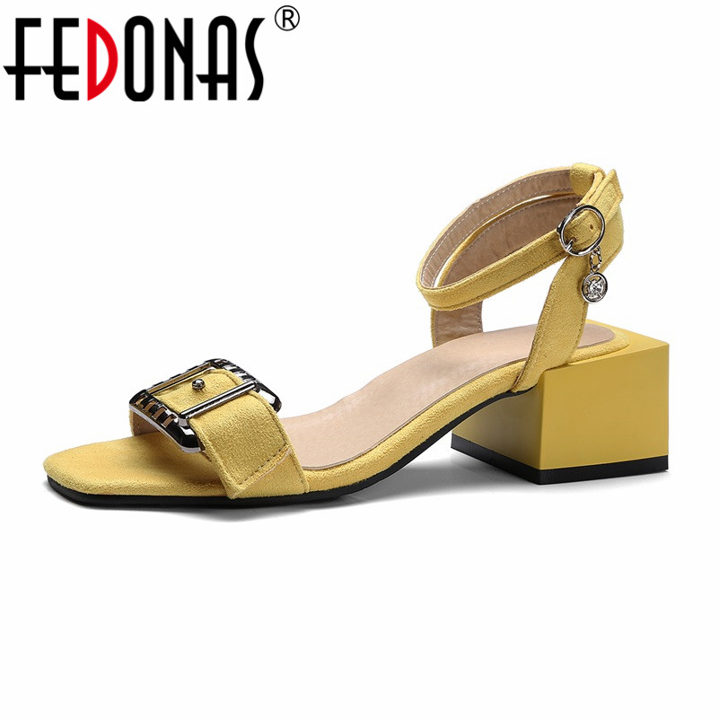 FEDONAS Woman Fashion High Heels Sandals Women Ankle Strap Slingbacks Buckle Fashion Comfort Shoes Woman Summer Sandals fedonas women sandals plus size 34 43 fashion ankle strap high heel summer women pump shoes woman cute colors elegant sandals