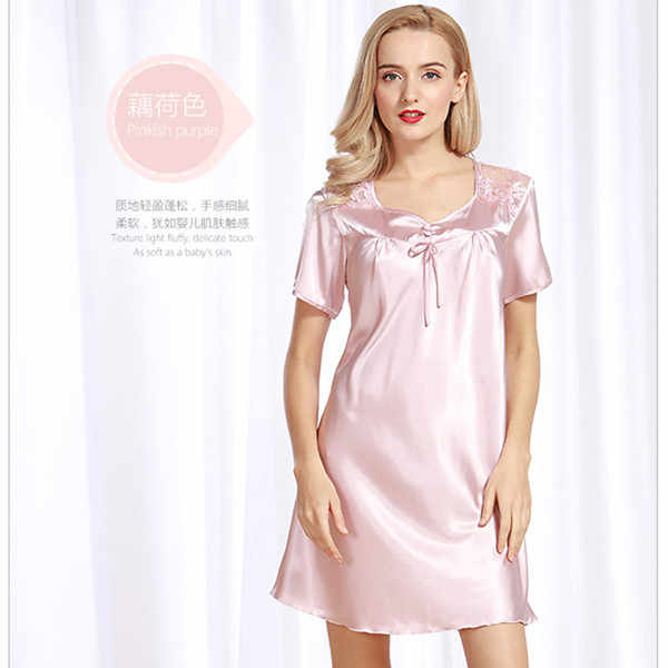 a592fa680d40 ... Sexy Nightie Large Size Nightgowns Sleep Dress Women Summer New Silk Satin  Lingerie Long Nightgowns For ...