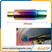 RASTP Hi Power Universal 304 Stainless Steel Exhaust Pipe Racing Muffler Tip Car Exhaust Pipe Free