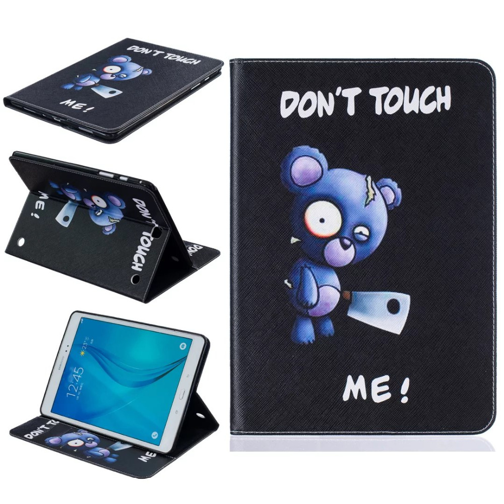 Fashion PU leather case for samsung galaxy tab A 8.0 T350 T355 SM-T355 8'' tablet cover case T350 folio stand case Funda coque luxury tablet case cover for samsung galaxy tab a 8 0 t350 t355 sm t355 pu leather flip case wallet card stand cover with holder