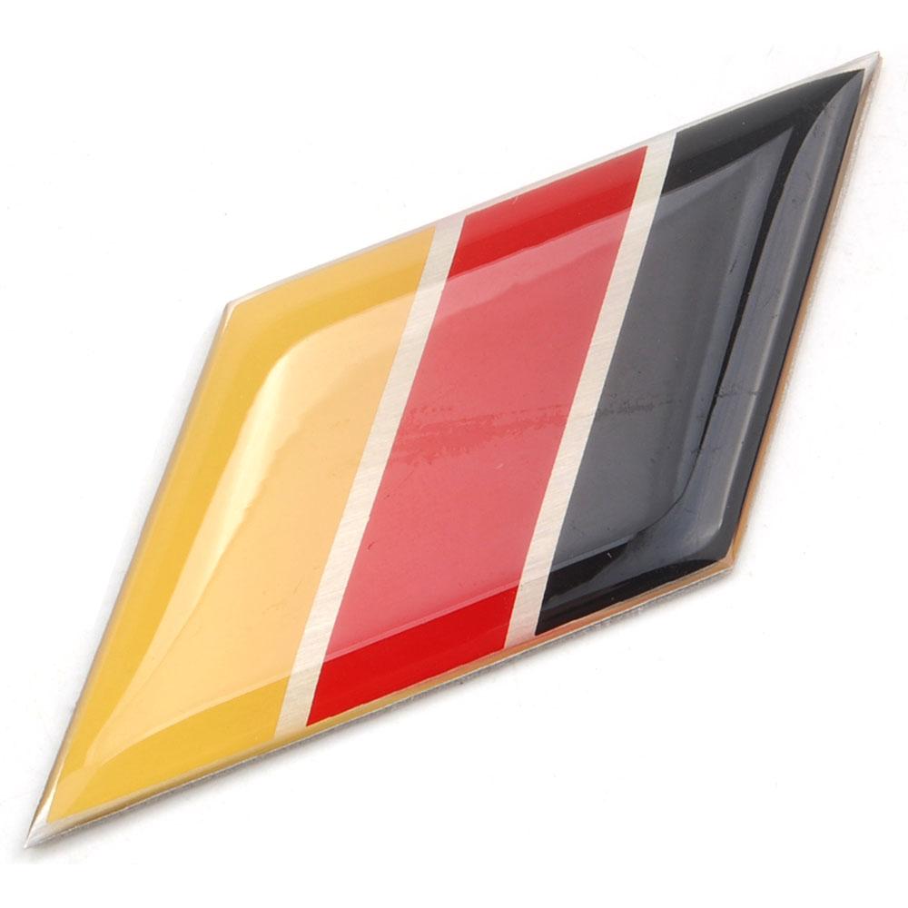 ΞAluminio Bandera de Alemania side emblema badge sticker FIT para ...