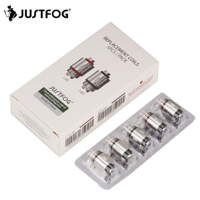 30 pièces JUSTFOG tête de bobine pour Q16 Q14 P16A atomiseur 1.2ohm 16.ohm bobine de remplacement noyau Cigarette électronique réservoir C14 bobine