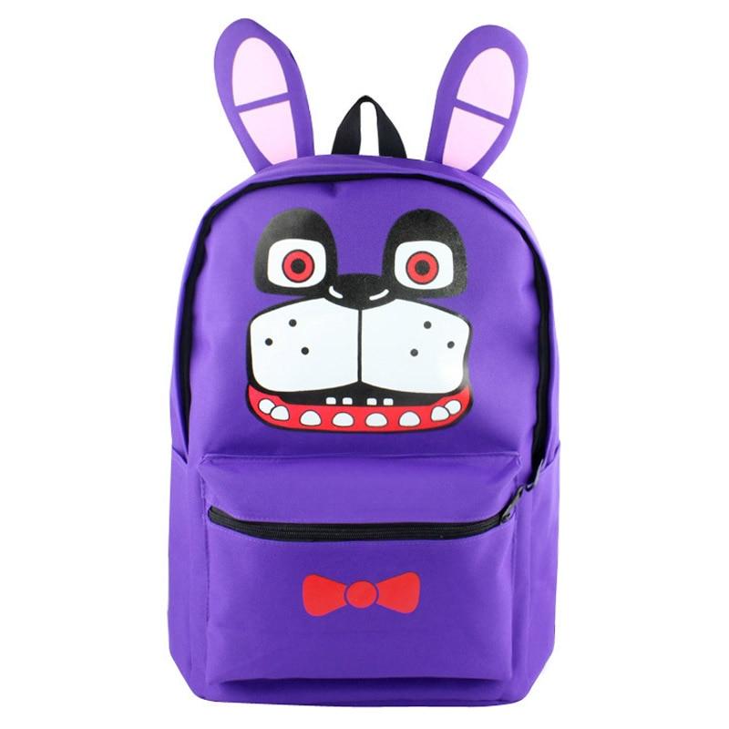 Five Nights At Freddy&#8217;s Backpack Freddy Foxy <font><b>FNAF</b></font> Anime Nylon Backpacks Messenger School Bag Rucksack Students Bag Gifts