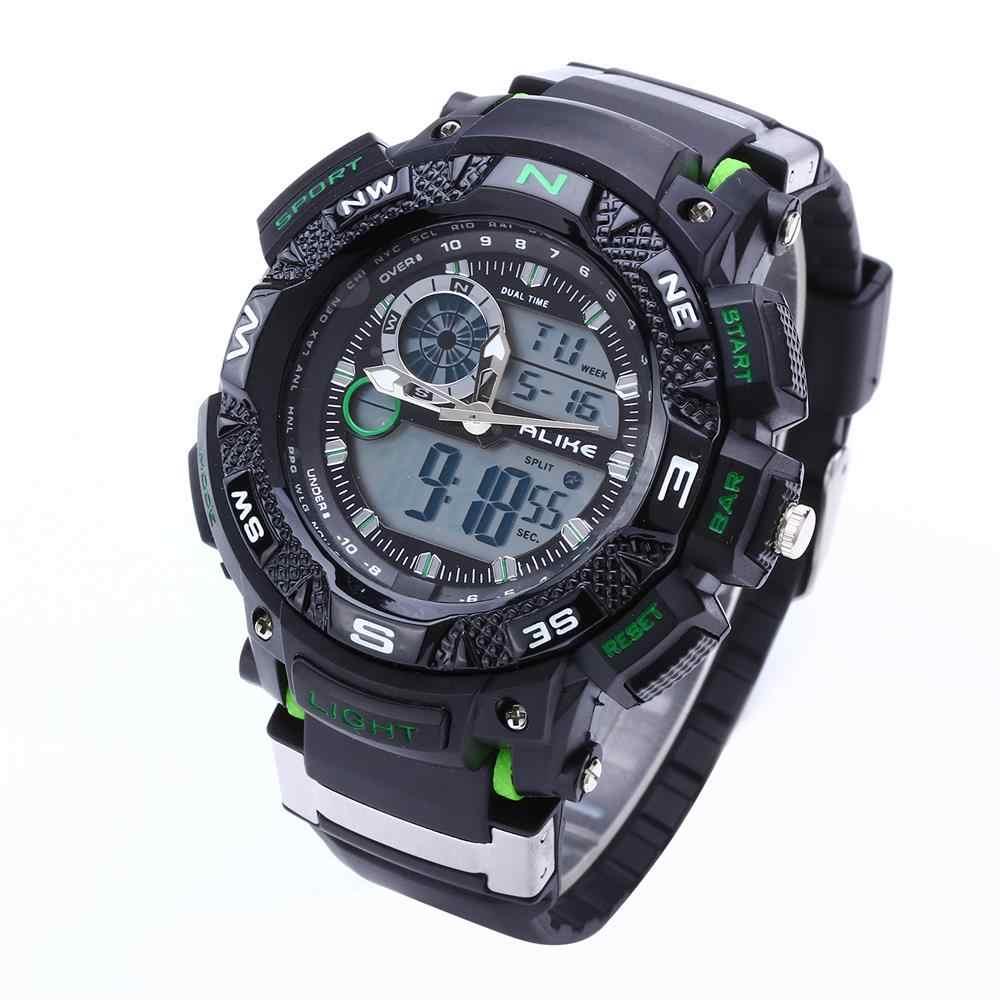 G כאחד הלם בסגנון צבאי חיצוני ספורט עמיד למים שעונים גברים קוורץ שעונים שעון דיגיטלי LED שעון יד Relogio Masculino