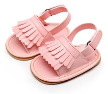 New style pu leather tassel baby summer sandals toddler girls boys shoes outdoor shoes hard rubber sole baby sandals