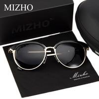 MIZHO Vidrio Superstar Polarized Sunglasses Women Mirrored Metal Cat Eye Vintage UVA Polaroid Sunglass Mirror Original