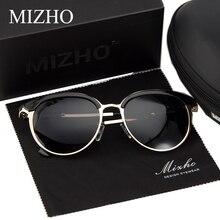 MIZHO Vidrio Metal Star Polarized Sunglasses Women Cat eye Vintage UVA Polaroid Sunglass Protector Mirror Original Case 2017