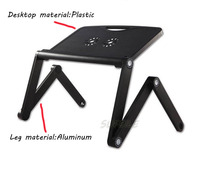 Adjustable Portable Laptop Table Stand Lap Sofa Bed Tray Computer Notebook Folding Table Desk D5